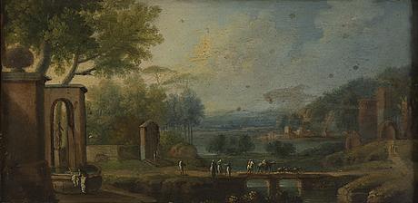 Unknown artist, around 1800, a peir, oil on copper.