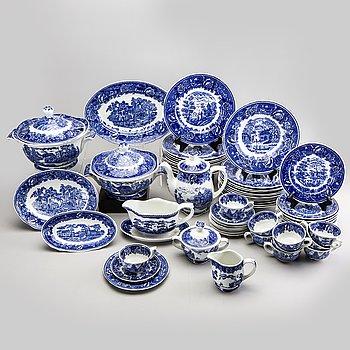 """Reinhard Richter, tableware, 58 parts, """"Masema"""", Arabia flint goods Finland 1941-64."""