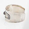 A claës giertta silver bracelet set with an amethyst.