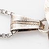 Kultasepät salovaara, pendant sterlingsilver with rock crystal.