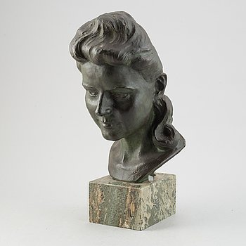William Zadig, sculpture, bronze, signed and dated 1947.