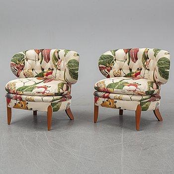 Otto Schulz, a pair of 'Schulz' easy chairs from Jio Möbler Jönköping.
