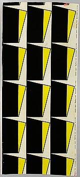 """Olle Baertling, a fabric, """"Margot"""", handprinted velvet, ca 297,5 x 126,5 cm (the total width 131,5 cm)."""