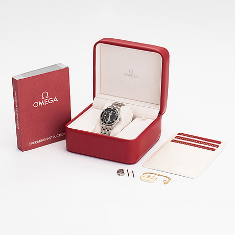 Omega, seamaster, professional, co-axial, chronometer, wristwatch, 36 mm.