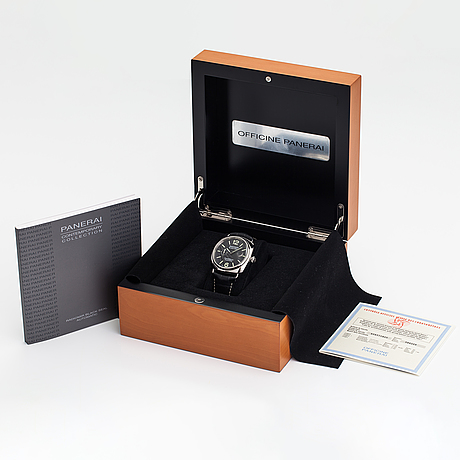 Officine panerai, radiomir black seal, wristwatch, 45 mm.