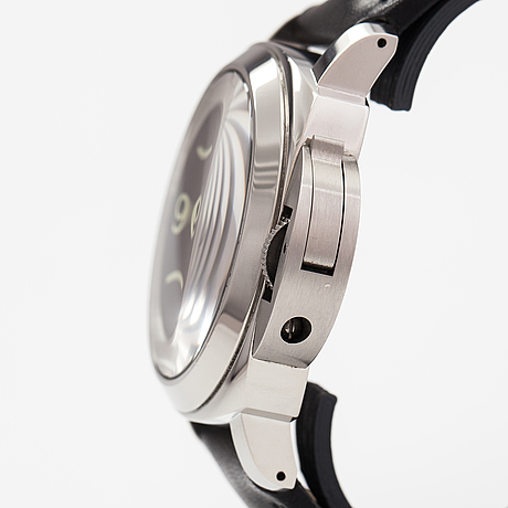 Officine panerai, historic luminor baselogo, wristwatch, 44 mm.