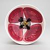 Sami ruotsalainen, an 'oiva' bowl of the marimekko tableware series 10-year jubilee collection, signed sr. unique, 2019.