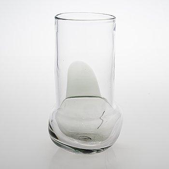 Sami Ruotsalainen, 'Pokaali', art glass object from the Äärillä series. Signed. Unique, 2017.