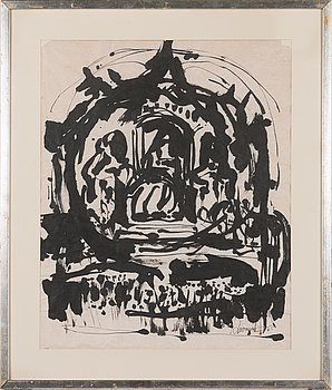Ahti Lavonen, ink, signed and dated -65.