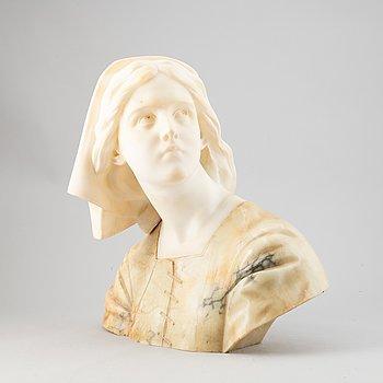 Sculprure, alabaster and stone, possibly Guglielmo Pugi, Italy. (1850-1915).