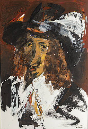Jan naliwajko, gouche, signed and dated 1992.