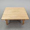 An oak coffee table by hans j wegner for andreas tuck, denmark.
