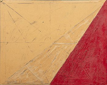 Anders Kappel, mixed media signed and dated 81.