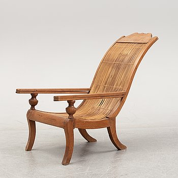 An Indian deck chair, late 20th century.