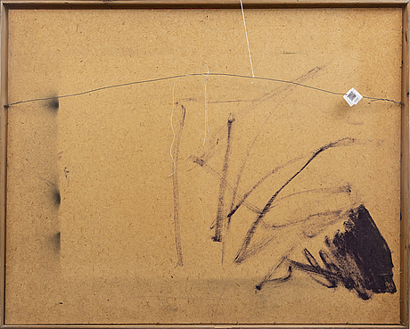 Hilding hultberg, oil on panel signed and dated 1972.