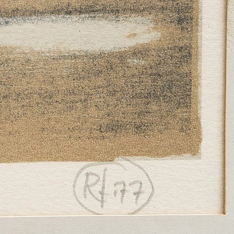 Roj friberg, lithograph signed dated and numbered 77 25/98.