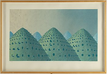 Kristian Krokfors, lithograph in colours, 1997, signed 38/60.