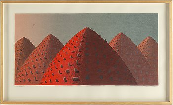 Kristian Krokfors, lithograph in colours, 1999, signed 13/55.