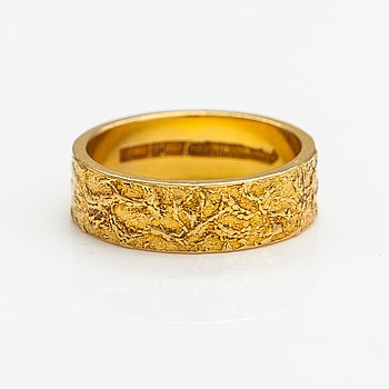 "Björn Weckström, An 18K gold ring ""Lapp gold"". Lapponia 1971."