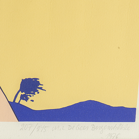 Marie-louise ekman, silkscreen in colours, 1976, signed 207/245.
