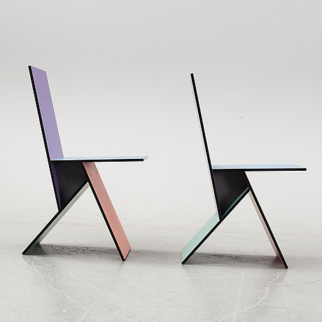 Two 'vilbert' chairs by verner panton for ikea, 1993-94.