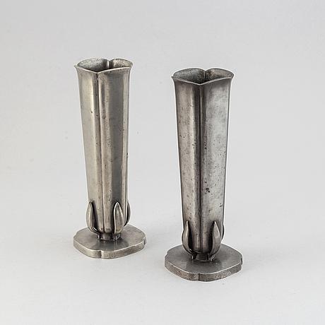 Vaser, ett par, tenn, gab, stockholm, 1939.