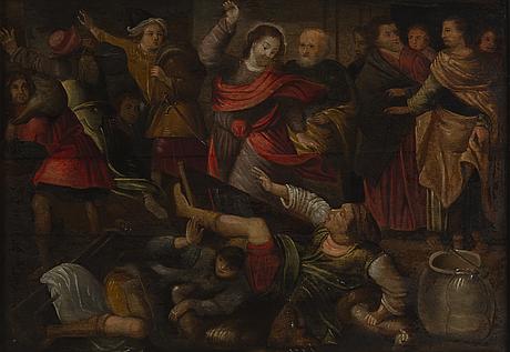 Flamländsk konstnär, 1600-tal, olja på pannå.