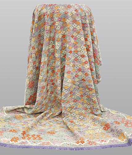 A carpet, kilim, 356 x 298 cm.
