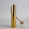 A pierre forssell brass candle stick for skultuna.