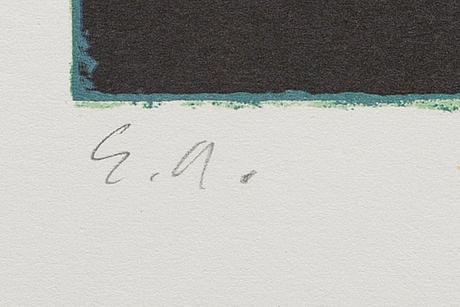 Ola billgren, color lithograph, signed -82 ea.