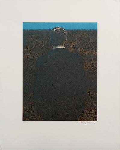Ola billgren, color lithograph, signed -81 ea.