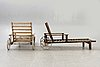 A set of two pine deck chairs by elsa stackelberg for fri form later part of the 20th century.