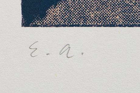 Ola billgren, färglitografi, signerad -82 ea.