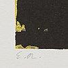 Ola billgren, color lithograph, sigbed -81 ea.