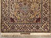 A signed isfahan part silk carpet ca 192 x 118 cm.