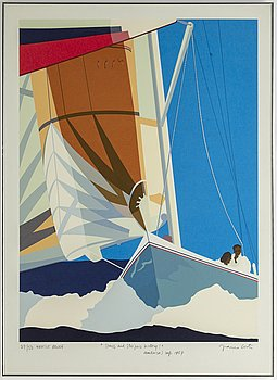 Franco Costa, lithograph in colours, signed AP 27/50.