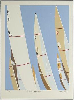 Franco Costa, silkscreen in colours, signed 104/250.