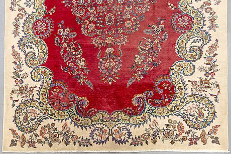 A semiantique kashmar carpet ca 392x290 cm.