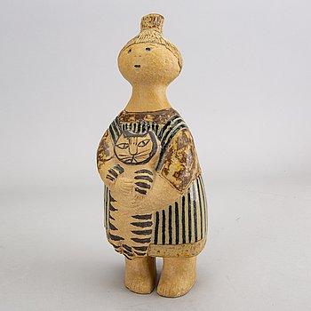 Lisa Larson, signed stone ware figurine.
