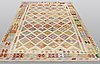 A carpet, kilim, 296 x 198 cm.