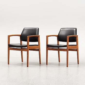 A pair of 1960's armchairs.