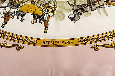 "Hèrmes scarf  ""la promenade de longchamps"" silk."