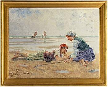 Emil Lindgren, oil on canvas, signed.