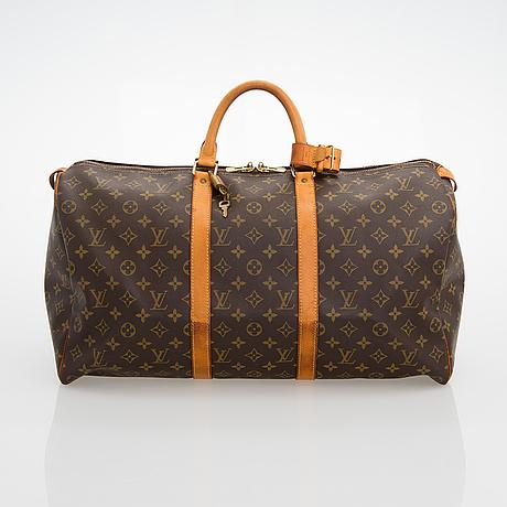 Louis vuitton, a monogram 'keepall 50' weekendbag.