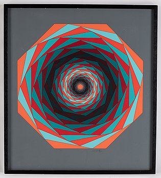 Victor Vasarely, serigraph, signed, numbered EA XIV/XXX.