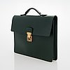 Louis vuitton, a taiga leather 'minuto' briefcase.