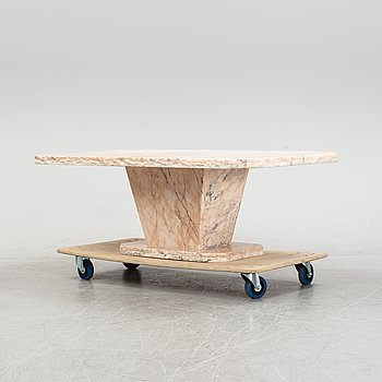 A marble coffee table, Estremoz, Portugal, late 20th Century.