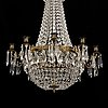 An empire style chandelier, first half of the 20th century.
