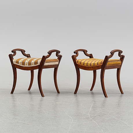 A pair of empire stools, first half of the 19th century.