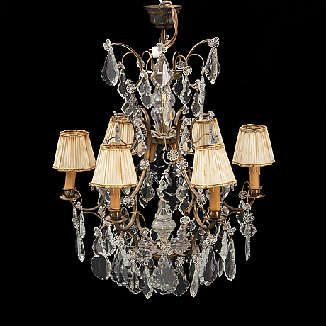 A baroque style chandelier, first half of the 20th century.